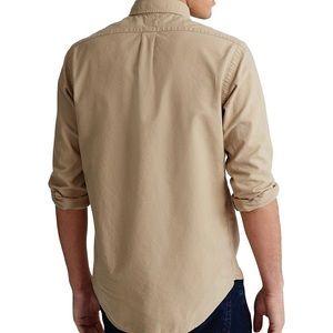 Tan Ralph Lauren Button Down Long Sleeve Shirt